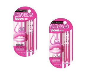 Maybelline Baby Lips Color Changing Lip Balm, Pink Bloom, 1.7 gm x 2 pack