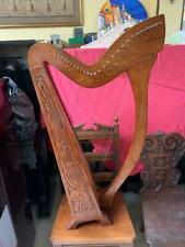 ALTES KELTISCHES HARP HANDGESCHNITZTES Musikinstrument HARFE