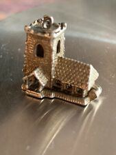 Vintage Silver Wedding Church Charm (opens)