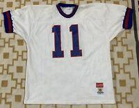VTG Sand Knit New York Giants Phil Simms NFL Pro Cut Jersey Men's SZ XL White