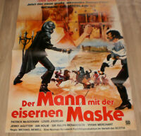 A1-Filmplakat  DER MANN MIT DER EISERNEN MASKE,PATRICK Mc GOOHAN,LOUIS JORDAN