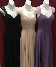 NEW Womens Cinderella Divine 7461 Cap Sleeve Chiffon Formal Gown Party Dress