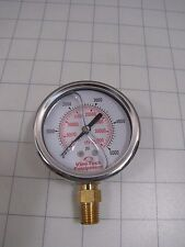 "Vine Tech 80104VT LM Liquid Filled Gauge 2-1/2"" x 1/4"" NPT 0-5,000 PSI NEW"