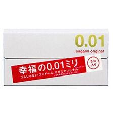 Sagami Original 001 5 Pcs Count Ultra Thin Men Male Condom 0.01mm
