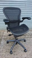 Herman Miller Aeron.Very good Cond.Fully loaded. Black mesh B (30 chairs left)