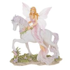 Large Fairyland Unicorn With Fairy Princess Resin Ornament Figure Gift 281502
