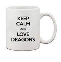 Keep Calm And Love Dragons Ceramic Coffee Tea Mug Cup