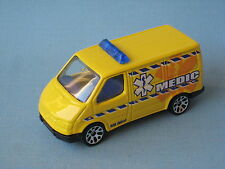 Matchbox Ford Transit Van Medic Ambulance Rescue Paramedic Yellow Toy Model Car