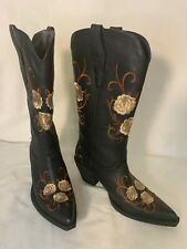 Women's NEW Roper Brown Floral Embroidered Western Boots Size 6