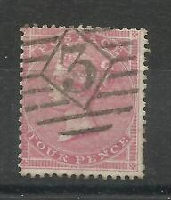 1855/7 Sg 66B, 4d Rose, Thick Paper, Fine used.