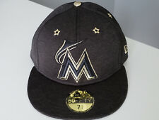 big sale 1ae86 6d22a Era Florida Marlins ASG 59fifty Fitted Cap Sz 7 1 2 Black Gold All Star