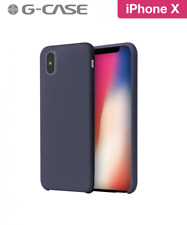 COQUE RIGIDE G-CASE ORIGINAL SERIES SILICONE IPHONE X SOFT TOUCH BLEU NUIT