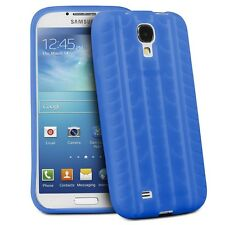 Blue Tire Tread Silicone Rubber Case Cover Skin for Samsung Galaxy S4 IV i9500