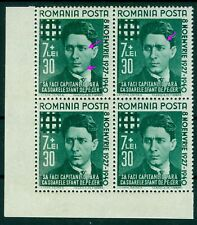 1940 Iron Guard Leader,Legion,Corneliu CODREANU,Romania,680,B145,MNH,x4,Error/2