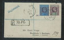 FIJI ISLANDS (P0806B) KE 2 1/2D+5D REG SUVA TO GERMANY