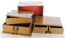 Japanese Vintage Lacquer ware Wood Puzzle Trick Secret Jewelry Box Case