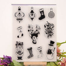 Christmas snowman shoes Silicone Stamp Seal DIY Scrapbooking Photo Album DODCK7T