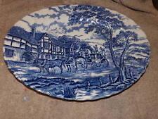 "Myott Royal Mail Blue Design 14.5"" Oval Serving Platter Made in England"