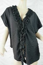 TS TAKING SHAPE black textured short sleeved adventure cardigan size M/20 BNWT