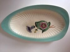 Rare Hand Painted SHORTER & SON Petunia Platter, Fabulous Colours 15.5 x9 inches