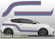 Alfa Romeo Martini racing stripes 006 vinyl graphics stickers Giulietta Mito