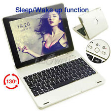For iPad 4 3 2 Bluetooth Keyboard Smart Case With Power Bank Clam Shell Cover