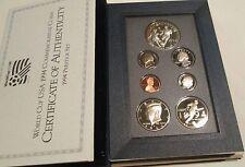 1994 S U.S. Mint Prestige Proof Set COA Box World Cup Silver Dollar 94 proof set