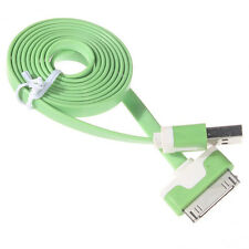 For Apple iPhone 4 4S 4G Flat Noodle USB Sync Data Charging Charger Cable Cord