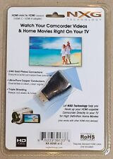 NXG Technology HDMI-mini to HDMI (standard) Adapter NEW IN SEALED PACKAGING
