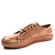 Superga Womens Fantasia Sneaker Glitter Patent Size 8 Rose Gold