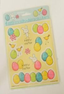 4 x  Sticker Sheets Easter Fun cute bunny chick & eggs party bag toy
