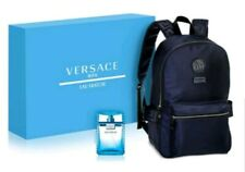Versace Mens Eau Fraiche 2-PC Gift Set Eau De Toilette & Backpack Authentic NIB