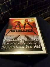 "METALLICA -  DVD Live Tour 1986 Jason Newsted Rare Promo ""Master of Puppets'"
