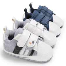 Newborn Infant Baby Girl Boy Crib Shoes Soft Sole Anti-slip Sneakers Canvas 0-18