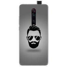 Funda Gel Tpu para Xiaomi Mi 9T / Mi 9T Pro diseño Barba Dibujos