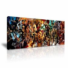 Marvel DC Comic Superheroes Canvas Wall Art 76x25cm / 30x10inch