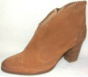 NEW UNBRIDLED ARIAT EVA DISTRESSED TAN SUEDE ANKLE BOOTS 8.5 M