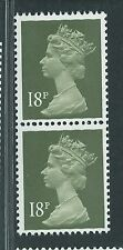 Gb unused Sg x912 Scott Mh102 18p deep olive gray Machin 2 phosphor bands pr Mnh