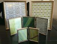 Lot of 4 Vintage gold brass metal tone photo picture frames ornate decor art