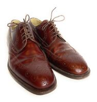 Stemar Burgundy Leather Oxfords Size 9 Wingtip Made in Italy