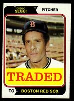 "1974 Topps Traded #151T Diego Segui Boston Red Sox Baseball Card ""mrp"" VG/EX+"
