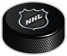 NHL Logo Hockey Puck Car Bumper Sticker Decal  -3'',5'' or 6''