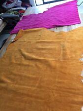 Job Lot Suede Orange Leather Crafts