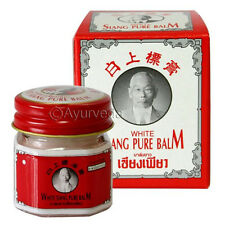 Siang Pure Balm White Muay Thai Herbal Thailand Warming Massage Herb Pain 12g
