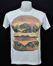White crew t-shirt BIG MAC fast food cotton CL tee size L