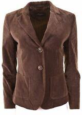 MAX MARA Womens 2 Button Velvet Blazer Jacket UK 8 Small Brown Loose Fit  NB10
