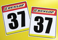 VINTAGE style Classic Car 'DUNLOP' RACE NUMBERS ideal for MINI COOPER