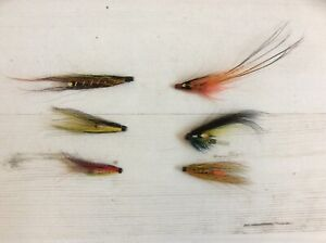6 x copper tube Salmon flies