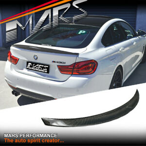 High Kick Carbon trunk boot lip Spoiler Wing for BMW 4-Series F36 4D Gran Coupe