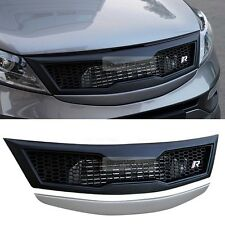 Fornt Hood Radiator Emblem Grille Cover Unpainted for 2011-2015 2016 Sportage R